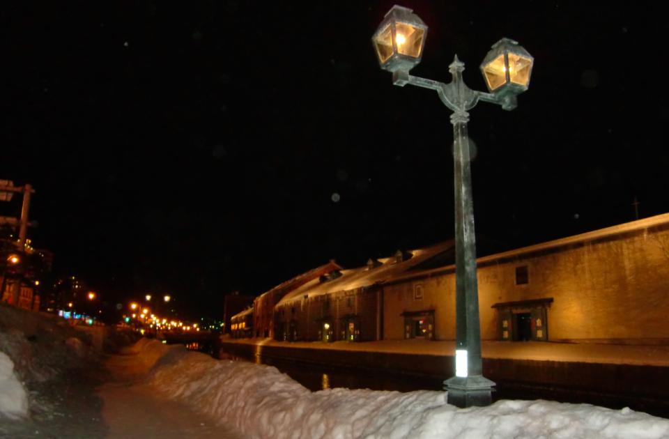 夕方から夜に冬の小樽を満喫。キャンドル制作体験も!(2014冬)