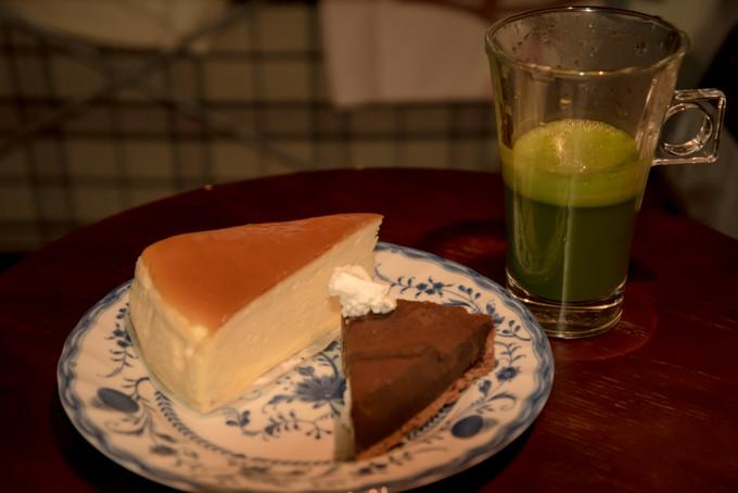 抹茶とケーキ