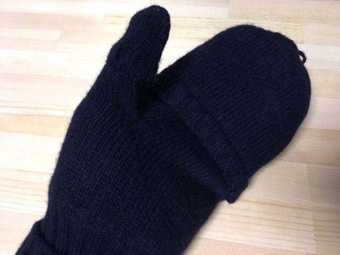 無印の手袋(ミトンタイプ)